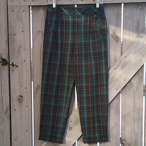 Anthro Cartonnier plaid Kames tapered pants 2